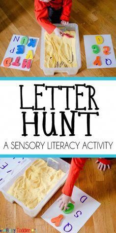 Letter Hunt for Early Literacy - Busy Toddler