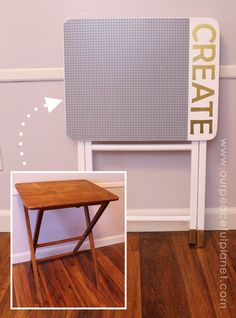 Love Lego? Make this easy portable DIY Lego table from an old TV stand. You can even have it match your decor. A Lego mat, paint, glue and…
