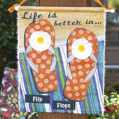 Life Is Better Canvas Hanging  ☀️ Who\'s ready for SPRING BREAK?! ☀️  Get all set for your vacation with our new beachy products 😎  Shop our trendy beach items at www.femailcreatio... #UniqueGifts #GiftsForWomen #Gifts #GiftsForAllOccassions #InspirationalGifts #Love #NewProducts #Deals #Trendy #Spring #Vacation #SunnyDaysAhead #SpringBreak #Beach #BeachBound