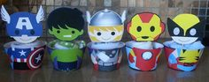 The AVENGERS Cupcake Toppers and Wrappers by AvaScharlizeShop