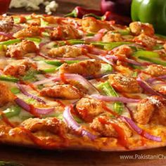 Tandoori Chicken Pizza Recipe by Shireen Anwar - Pakistani Chef Recipes - Sandwiches & Baked - Anchovy Pizza Recipe, Anchovy Recipes, Kebab Recipes, Chef Recipes, Home Recipes, Indian Food Recipes, Cooking Recipes, Fast Recipes, Tandoori Pizza