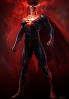 Man of Steel Warren Manser art heat ray vision