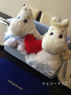 ムーミンウェディング Moomin, Plushies, Teddy Bear, Toys, Cute, Wedding, Activity Toys, Valentines Day Weddings, Stuffed Animals