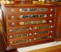 russell & sons drawer cabinet   Nine drawer Russell spool cabinet thread cabinet   eBay