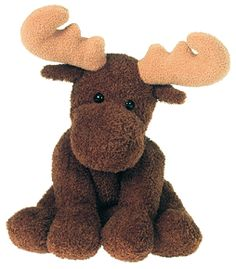 Stuffed Moose Toy. Inspiration for Outdoorsy Boy's Baby Shower. Hunting, fishing, camping, widlife etc.