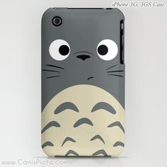 Totoro Kawaii My Neighbor iPhone & Samsung Galaxy S4S Case 5, 5c, 5s, 4, 4s, 3G, 3GS Anime Grey Manga Troll Hayao Miyazaki Studio Ghibli by CanisPicta, $39.50