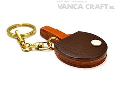 Ping-pong/Table tennis paddle Leather Sports KH(L) Keychain VANCA CRAFT