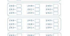 Fitxes per practicar les taules de multiplicar