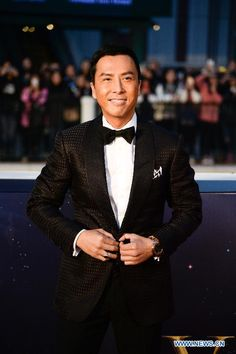 Actor Donnie Yen on the red carpet at the 15th Huading Awards in Macao, China, Jan. 18, 2015
