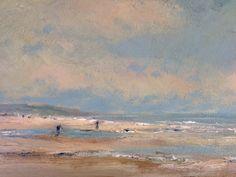 Seascape strand bij Katwijk door Herman Dasselaar