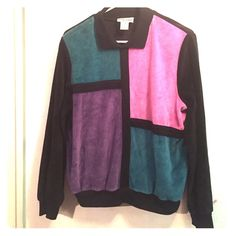 Thrifters suede sweater Tri-Colored sweater Alfred Dunner  Tops Blouses