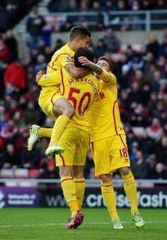 Lazar Markovic a favor del Liverpool FC.