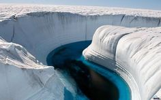Ice Canyon, Greenland is very beautiful and attractive place. It is a perfect example of beautiful nature. Greenland is very beautiful . Beautiful Places In The World, What A Wonderful World, Beautiful Places To Visit, Places Around The World, Oh The Places You'll Go, Places To Travel, Around The Worlds, Amazing Places, Wonderful Places