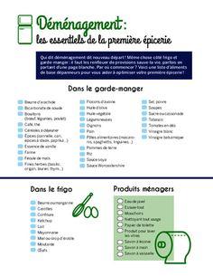 Déménagement: les essentiels de la première épicerie - Trucs et conseils - Cuisine et nutrition - Pratico Pratique