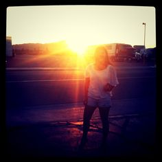 @nayra in the sun on our way home from #Vegas