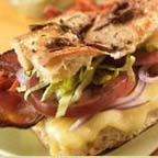 Bacon and Brie Cheese Panini with Avocado Mayo and Yam Fries - Hankering for something special to eat, but don't know what it is? Try this terrific panni sandwich recipe developed by Chef Goose Sorensen.
