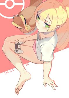 Pokemon Lillie and Pidgey - Wahey all right. controller in her hand too. Gen 1 Pokemon, Sexy Pokemon, Pokemon Pins, Pokemon Fan Art, Green Pokemon, Pokemon Pictures, Charizard, Anime Style, Chibi