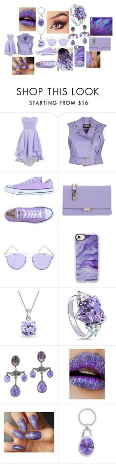 """#65"" by astrangeevent on Polyvore featuring Jeremy Scott, Converse, Coccinelle, YHF, Casetify, Bling Jewelry, BERRICLE and Lime Crime"
