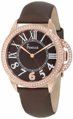 Freelook Women's HA9048RG-2 Brown Satin Band Sunray Half Dial Rose Gold Case Swarovski Bezel Watch Freelook. $200.00. Brown satin band sunray half roman numeral dial rose gold case swarovski bezel. Water-resistant to 50 M (165 feet). Half roman numeral dial, metal case. Case diameter: 36 mm. Japanese-quartz