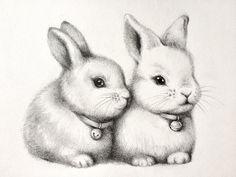ORIGINAL cute bunnys pencil drawing rabbit couple sketch lapin animal Illustration nursery wall art nursery decor gift home decor - Pencil drawings - Bunny Sketches, Animal Sketches, Art Drawings Sketches, Cute Drawings, Nursery Drawings, Nursery Wall Art, Nursery Decor, Bunny Art, Cute Bunny