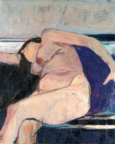 Reclining Nude - Pink Stripe - Richard Diebenkorn