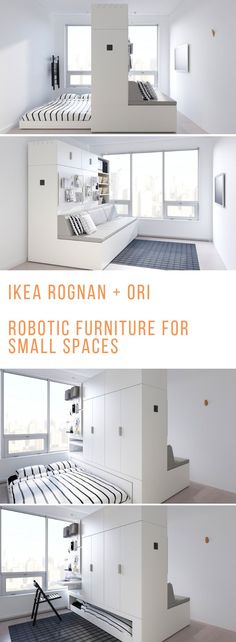 Robotic Furniture: IKEA& new big thing for tiny spaces Shape shifting robot. Robotic Furniture: IKEA& new big thing for tiny spaces Shape . Tiny Spaces, Small Rooms, Small Apartments, Ikea Small Spaces, Ikea Hackers, Space Saving Furniture, Ikea Furniture, Rustic Furniture, Bedroom Furniture