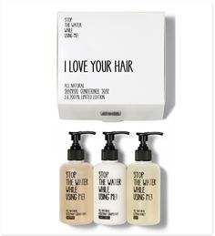 Make her happy this Christmas! Stop the Water While Using Me - 'I Love Your Hair' Kit