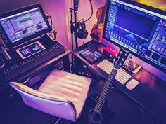 Gotta love this studio setup and that ROLI Seaboard. By @frankly_benjamin #musicstudio #musicproducer