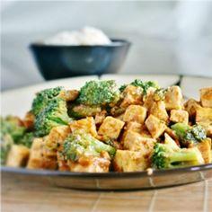 Kung Pao Tofu and Broccoli