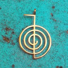 The pendant is made from the steinless steel. Its surface is coated by titanium nitride, that makes its color beautiful gold. This coating is