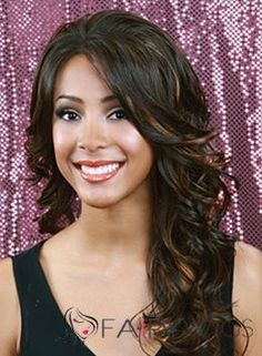 Sale Wigs Long Wavy Black No Bang African American Lace Wigs for Women 20 Inch