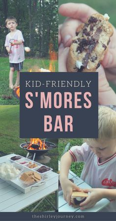 Make a Kid-Friendly S'mores Bar and embrace the mess! #ad #ThinkOutsideTheWipe