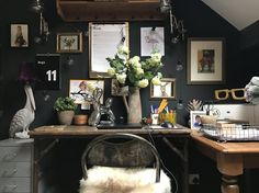 How I won the interior war: Nicola Broughton, The Girl With The Green Sofa — The Pink House Home Office Design, Office Decor, House Design, Office Ideas, Cozy Office, Office Inspo, Decorating Your Home, Interior Decorating, Interior Design
