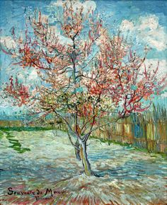 Van Gogh, Peach Trees in Blossom (Souvenir de Mauve), March 1888. Oil on canvas, 73 x 59.5 cm