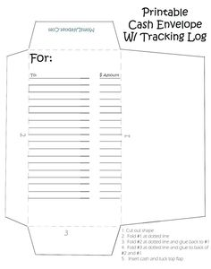 Printable Cash Envelopes – Great Way to Stay on Budget