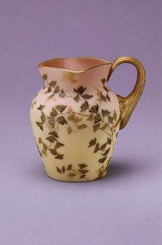 Mount Washington Glass Company. Brown burmese glass. 1895
