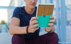 IPad Mini Bamboo Skin by Be markable. made in The Netherlands op CrowdyHouse Pastel Colors, Ipad Mini, Bamboo, Hand Mask, Hand Painted, Phone Cases, Cover, Netherlands, How To Make