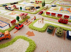 Traffic Play Rug from Danish by Design - I am usually not a fan of traffic rugs, but this one really is adorable!