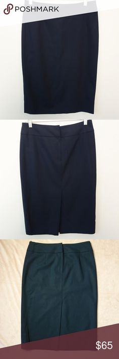 Boss by Hugo Boss Pencil Skirt Chic. Classic. Elegant. This Boss by Hugo Boss pencil skirt is a must have for your professional wardrobe. At a fraction of the price! Soft virgin lamb's wool 97%, 3% elastase for a sleek fit. Slit on back. Nicely fitted waistband with hidden zipper and hook and eye closures. Fully lined. Beautiful deep blue pairs perfectly with black, cream, grey, beige and so much more for that chic day to night look, EUC. Hugo Boss Skirts Pencil