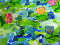 PAINTED PAPER: Middle School Monets