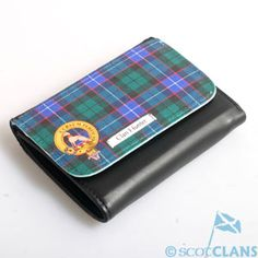 Clan Crest & Tartan Leather Feel Wallet *NEW* MacFarlane Clan Shop - Scottish Clans Tartans Kilts Crests and Gifts