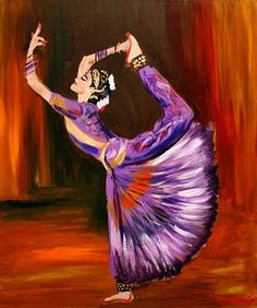 A stunning painting of a Bharatanatyam dancer. Indian Artwork, Indian Art Paintings, Abstract Paintings, Dancing Drawings, Art Drawings, Bollywood, Composition Painting, Indian Illustration, Dance Paintings