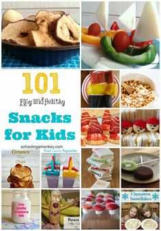 101 Healthy Snack Ideas for Kids ~ Schooling a Monkey