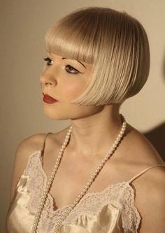 Blonde modern flapper.