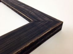 BLACK Rustic Wood Picture Frame Reclaimed by WholesaleFrame