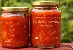 Sos słodko-kwaśny do słoika Creative Food Art, Polish Recipes, I Want To Eat, Canning Recipes, Food Design, Chutney, Food And Drink, Jar, Favorite Recipes