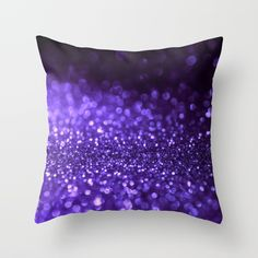 Buy Pantone Color 2018 Ultra Violett Purple Glitter Throw Pillow by betterhome. Worldwide shipping available at Society6.com. Just one of millions of high quality products available. #home #homedecor