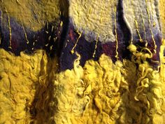 Detail of Claudy Jongstra's tapestry at Wool House