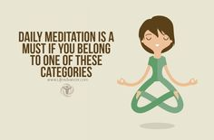 When you hear the word 'meditation' you may think of people who have disconnected from mainstream society. Daily meditation may seem pointless. You may find it impossible to sit in a spot and do nothing. However it has benefits for your happiness and health. So who should practice it? What Is Daily Meditation? Meditation stresses via @lifeadvancer   lifeadvancer.com