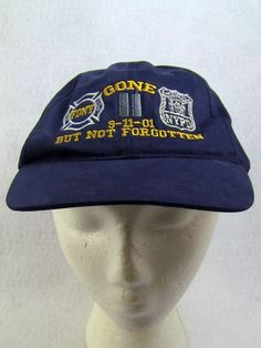 9 11 Hat Cap Gone But Not Forgotten FDNY NYPD World Trade Center 9- 929a0f7f64